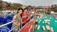 tourist-on-upper-deck-hop-on-hop-off-goa